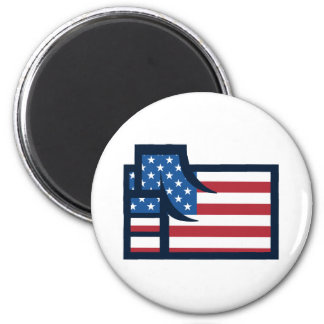 American Patriotic Fist 2 Inch Round Magnet