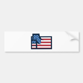 American Patriotic Fist Bumper Sticker
