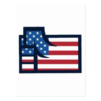American Patriotic Fist Postcard