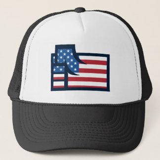 American Patriotic Fist Trucker Hat