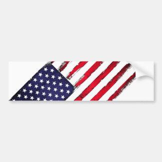 American Patriotic Grunge flag Bumper Sticker