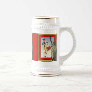 American patriotic, Liberty ladies Beer Stein