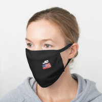 American Patriotic Monogram Men's Black Cotton Face Mask