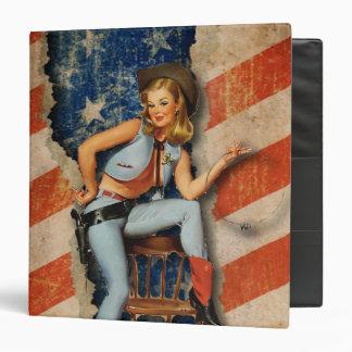 American Patriotic Naughty PinUp CowGirl Binder