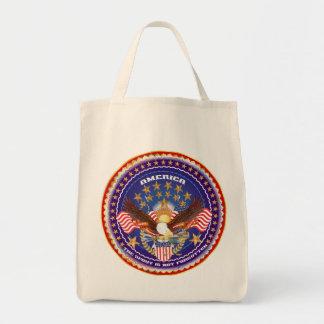 American Patriotic Please View Notes Tote Bag