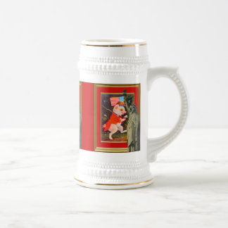 American patriotic,Revolutionary pig Beer Stein