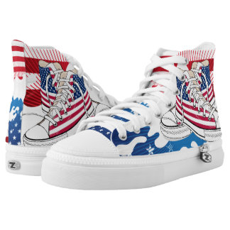 American Patriotic Shoes Printed Shoes