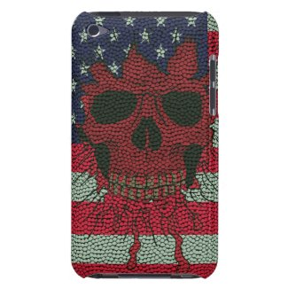 American Patriotic Skull Basketball Ball Skin Styl Barely There Ipod Cover