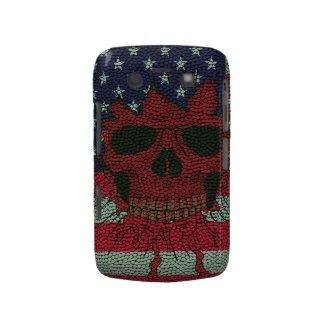 American Patriotic Skull Basketball Ball Skin Styl Case-mate Blackberry Case