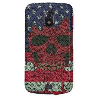 American Patriotic Skull Basketball Ball Skin Styl Galaxy Nexus Cases