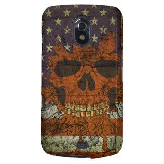 American Patriotic Skull On Gunge Wall Flag Galaxy Nexus Covers