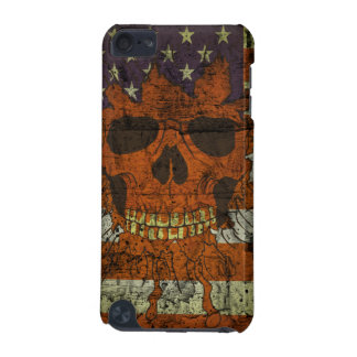 American Patriotic Skull On Gunge Wall Flag iPod Touch 5G Case