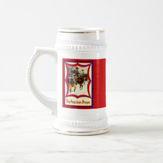 American patriotic,Soldiers of freedom Beer Stein