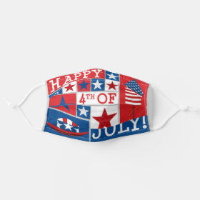 American Patriotic USA 4th of July Funky Pattern Cloth Face Mask