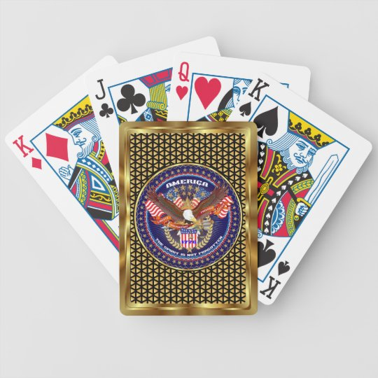 American Patriotic View Notes Please Bicycle Playing Cards