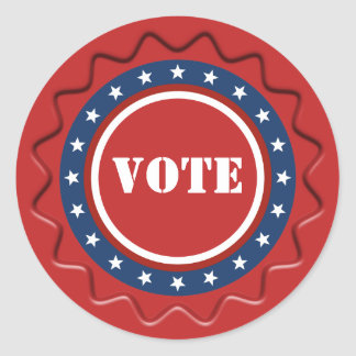 American Patriotic Vote Sign Red Wax Seal