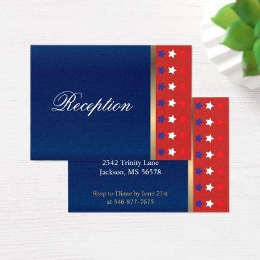 American Patriotic Wedding Business Card