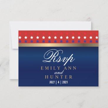 American Patriotic Wedding - RSVP