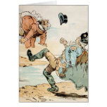 American Patriots kicking out the British Greeting Cards