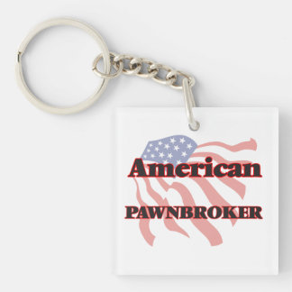 American Pawnbroker Single-Sided Square Acrylic Keychain