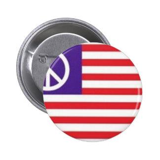 American Peace Flag Pinback Button