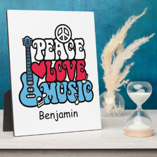American Peace Love Music Photo Plaques