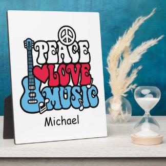 American Peace Love Music Photo Plaque