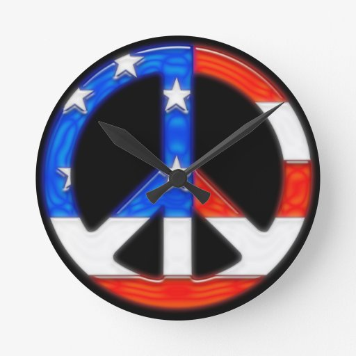 American Peace.png Round Clocks