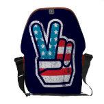 American Peace Rickshaw Messenger Bag
