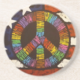American Peace Sandstone Coaster