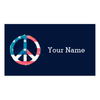 American Peace Sign grunge Business Card