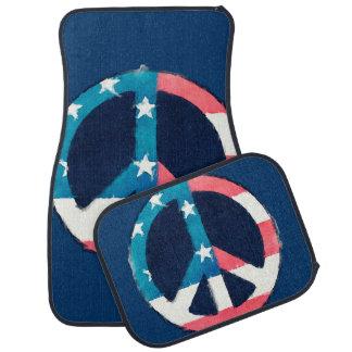 American Peace Sign grunge Car Mat
