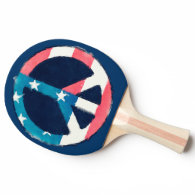 American Peace Sign grunge Ping Pong Paddle