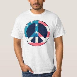 American Peace Sign grunge T-Shirt