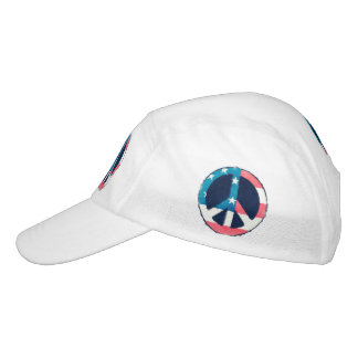 American Peace Sign grunge + your ideas Headsweats Hat