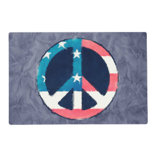 American Peace Sign grunge + your ideas Placemat