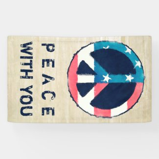 American Peace Sign grunge + your saying