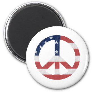 American Peace Sign Products! 2 Inch Round Magnet