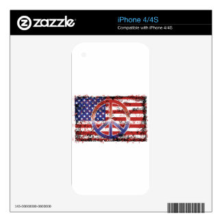 American Peace Skins For The iPhone 4