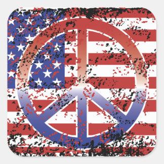 American Peace Square Sticker