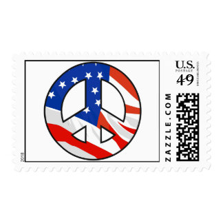 American Peace Symbol Postage