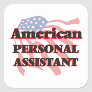American Personal Assistant Square Sticker