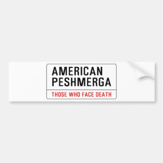 AMERICAN PESHMERGA BUMPER STICKER