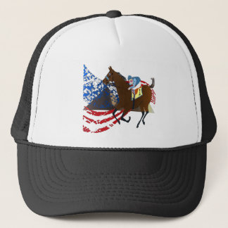 american pharaoh  horse racing design trucker hat