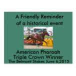 American Pharaoh Triple Crown Winner Postcard