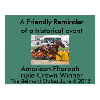 American Pharaoh Triple Crown Winner Postcard