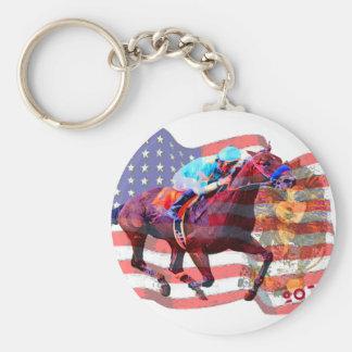 American Pharoah 2015 Basic Round Button Keychain