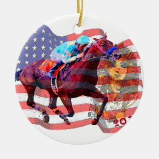 American Pharoah 2015 Ceramic Ornament