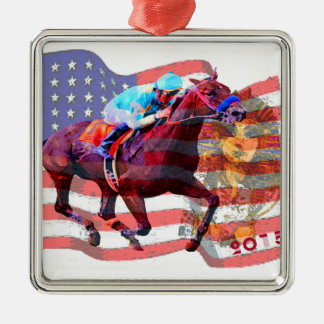 American Pharoah 2015 Metal Ornament