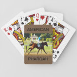 "American Pharoah on a Deck of Playing Cards<br><div class=""desc"">Out of 100 complete runnings of the Triple Crown Stakes, only 12 horses have won the title of Triple Crown winner. American Pharaoh was the latest one in 2015. Help celebrate this highly desired title with this playing card deck featuring American Pharaoh. Thank You for shopping at BARRYSBARN and please...</div>"